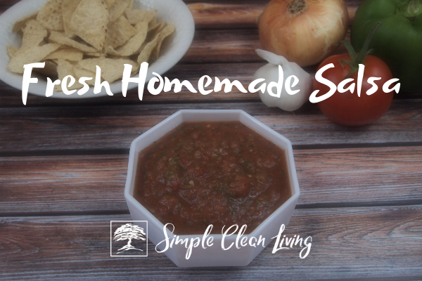 Fresh Homemade Salsa from Simplecleanliving.com