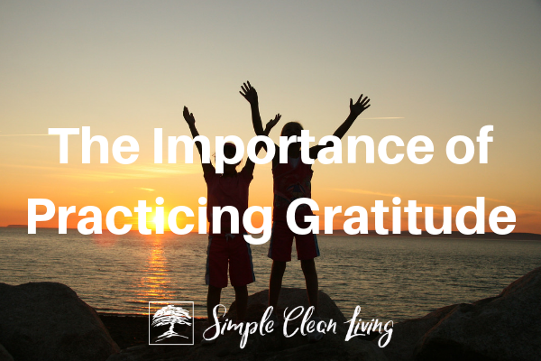 The Importance of Practicing Gratitude from Simplecleanliving.com
