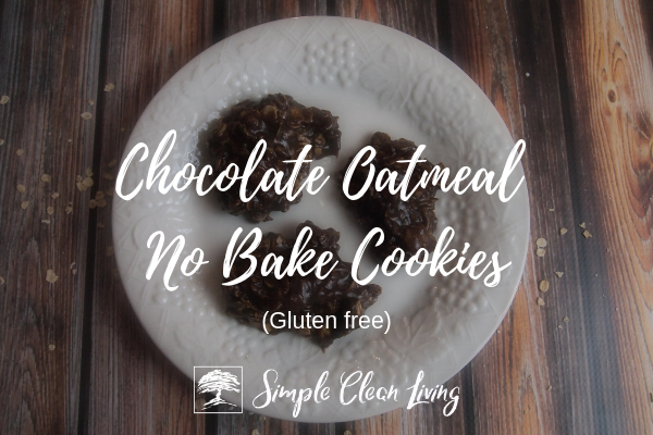 Chocolate Oatmeal No Bake Cookies from Simplecleanliving.com