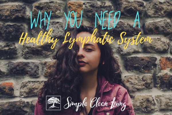 """A picture of a woman standing in front of a brick wall and the blog post title """"Why You Need a Healthy Lymphatic System"""""""