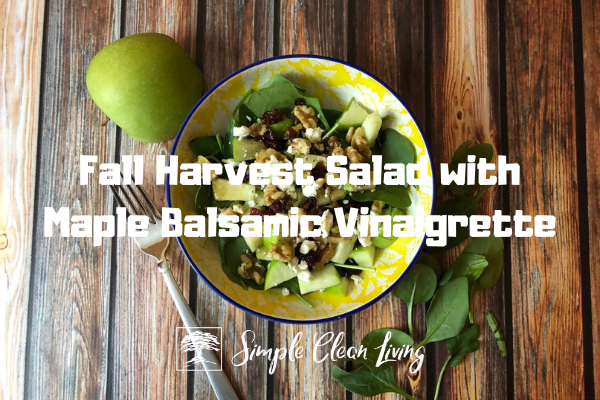 a bowl with fall harvest salad